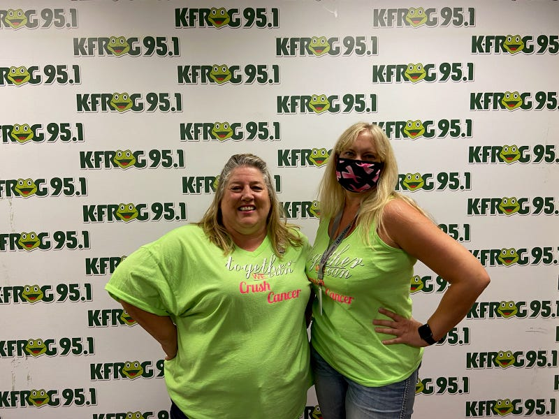 Janet Hommonay of Relay for Life of Chino with K-Frog's Pepper