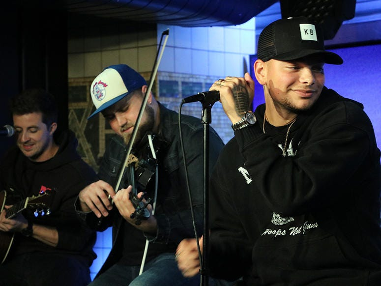Kane Brown gets 'Up Close & Country' with fans at NY's Country 94.7 in NYC on August 28th, 2019