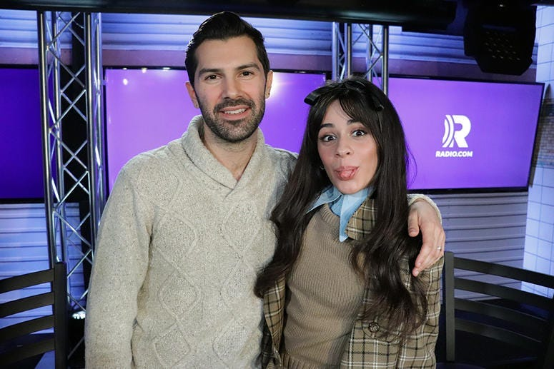 Camila Cabello with Mike Adam in the RADIO.COM Theater