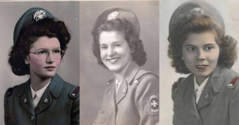 Cadet Nurses Grace Ann Malloy Carr, Edna Stowell, Mary Catherine Wallace