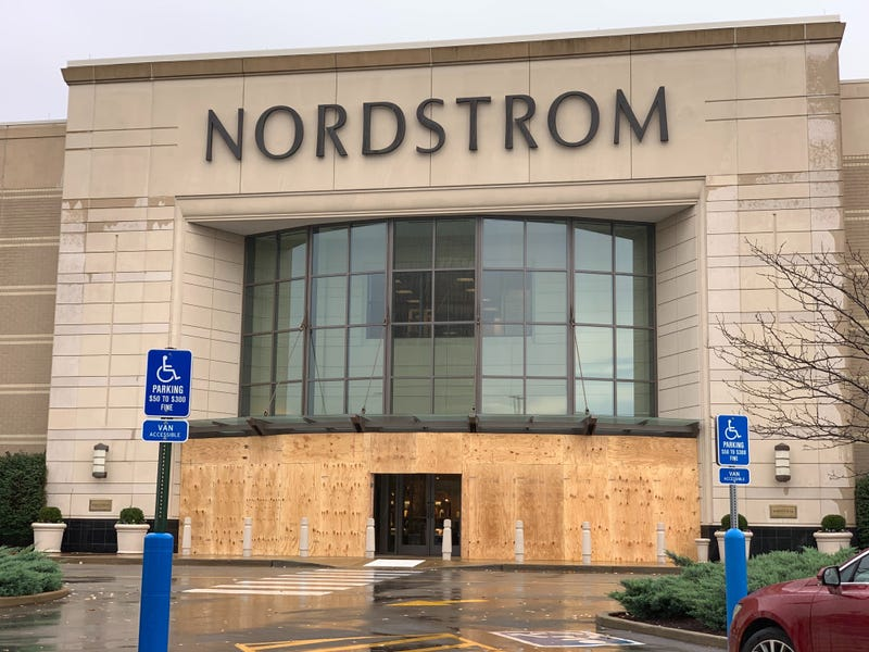Nordstrom at the Galleria Mall has boarded up their entrance to prepare for election night.