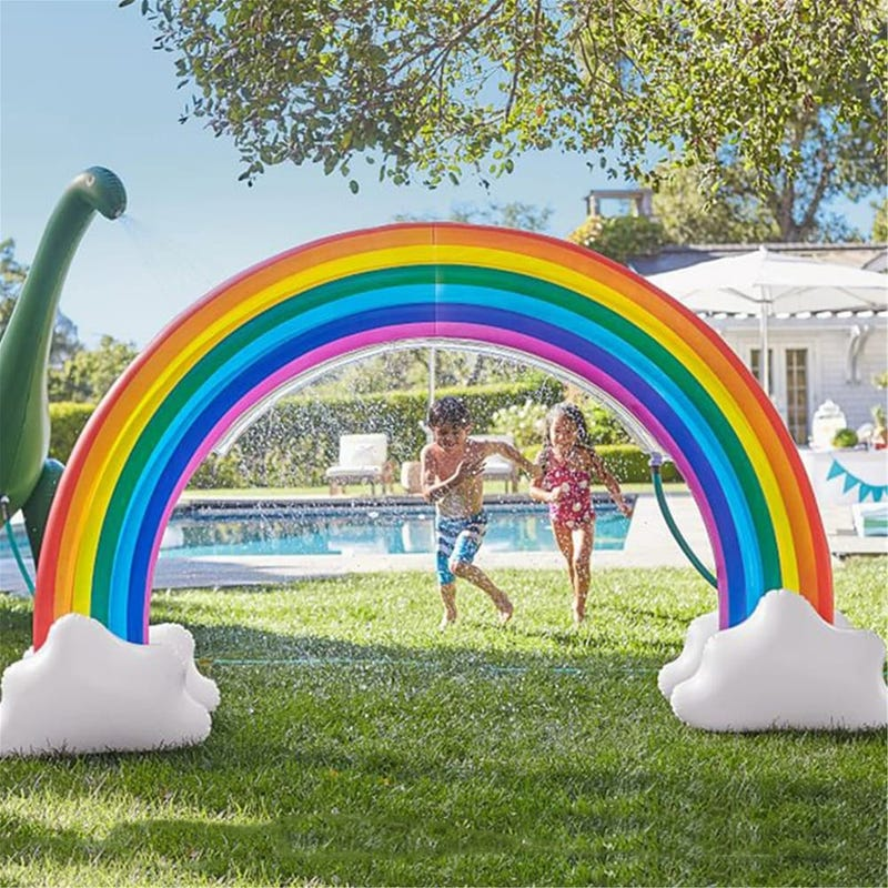 NewAge Inflatable Rainbow Yard Summer Sprinkler Toy Fun Outdoor Water Toys For Kids