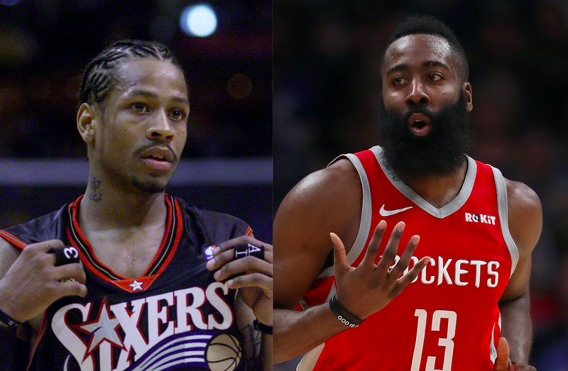 Allen Iverson and James Harden