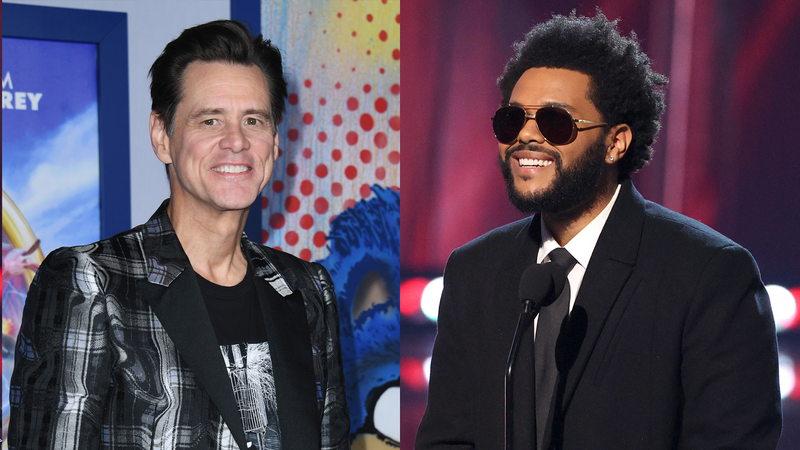 Jim Carrey and The Weeknd