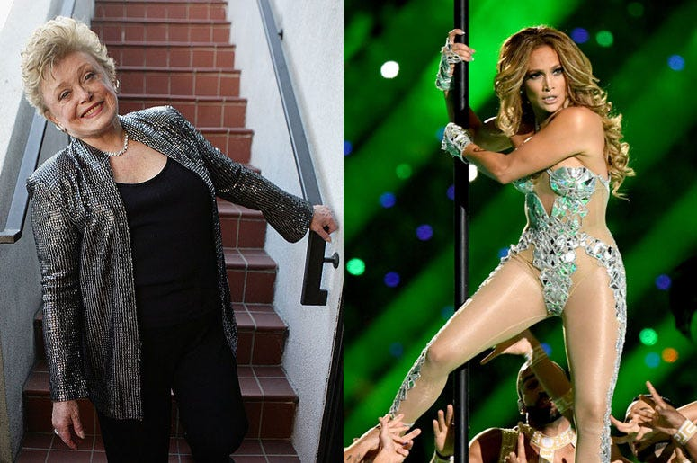 Rue McClanahan and Jennifer Lopez
