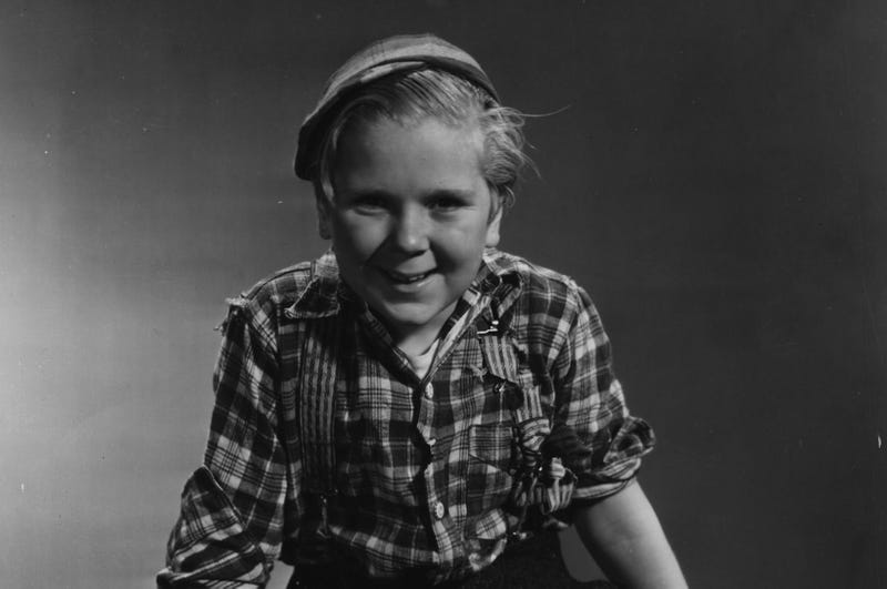 Actor Jackie Cooper on the set of the Bowery