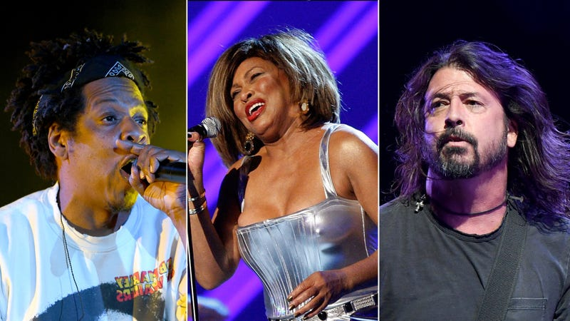 Rock & Roll Hall of Fame 2021 inductees Jay Z, Tina Turner, and Dave Grohl of Foo Fighters