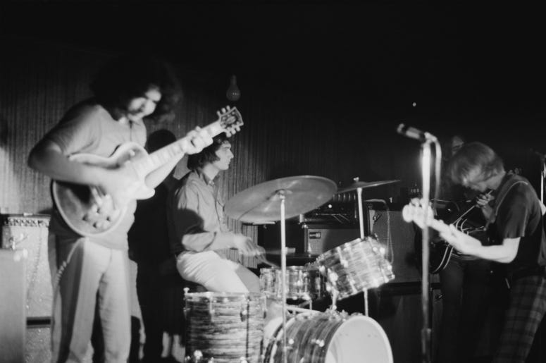 The Grateful Dead in concert, circa 1970