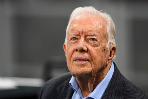 Former President Jimmy Carter getting a brain procedure.