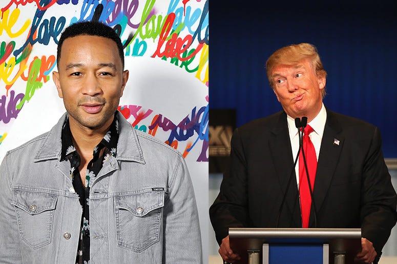 John Legend and Donald Trump