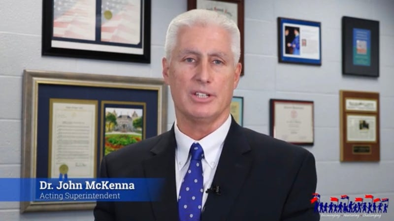 Dr. John McKenna, Acting Superintendent at Williamsville