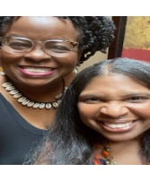 Featured from left to right Host Juandolyn Stokes and Executive Producer Angela Greene