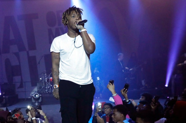 Juice WRLD performs during McDonald's Beat Of My City Chicago on October 17, 2019
