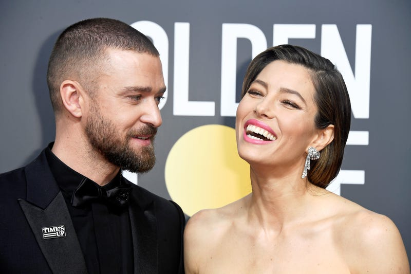 Actor/singer Justin Timberlake and actor Jessica Biel attend The 75th Annual Golden Globe Awards at The Beverly Hilton Hotel on January 7, 2018 in Beverly Hills, California.