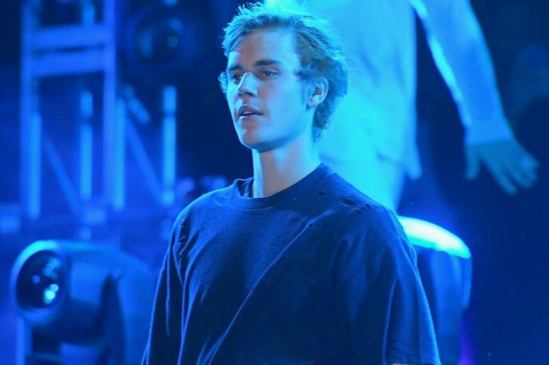 Justin Bieber performs