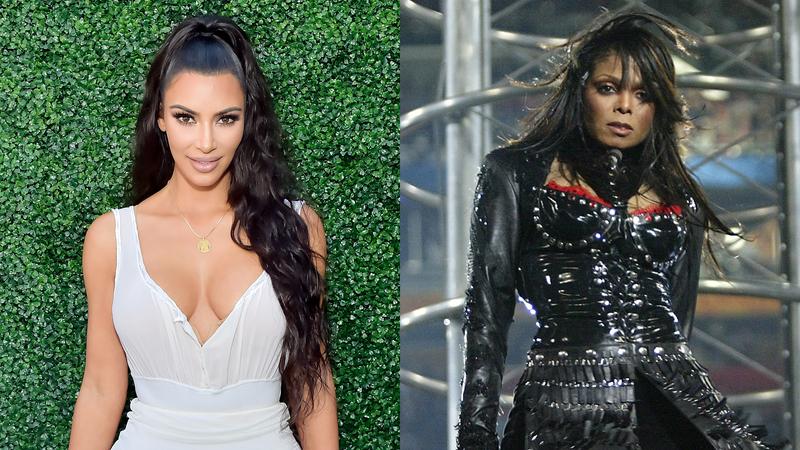 Kim Kardashian and Janet Jackson
