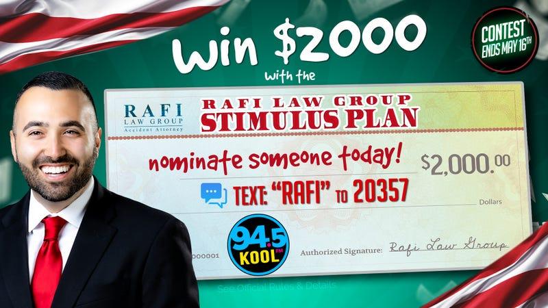 Rafi Law Group Stimulus Check Nomination Contest