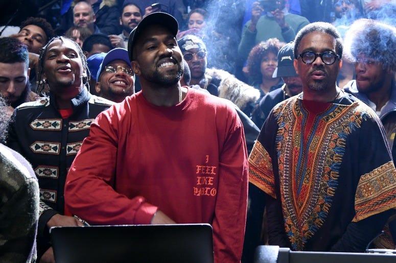 Kanye West performs during Kanye West Yeezy Season 3 on February 11, 2016