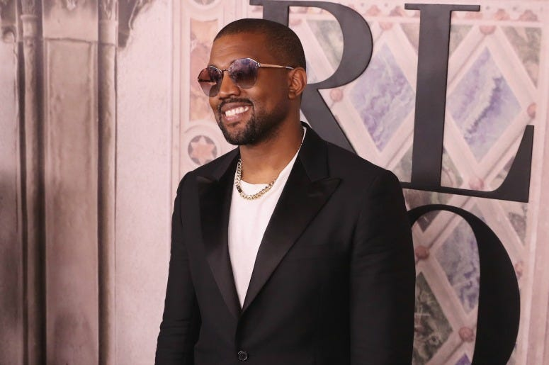 Kanye West attends the Ralph Lauren fashion show during New York Fashion Week at Bethesda Terrace on September 7, 2018