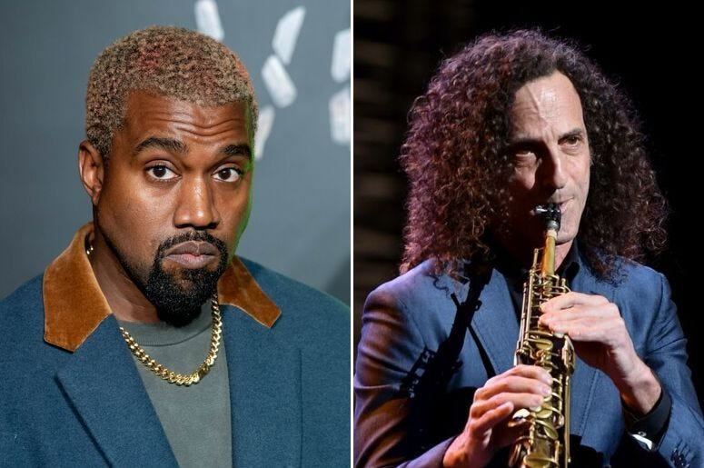 Kanye West and Kenny G
