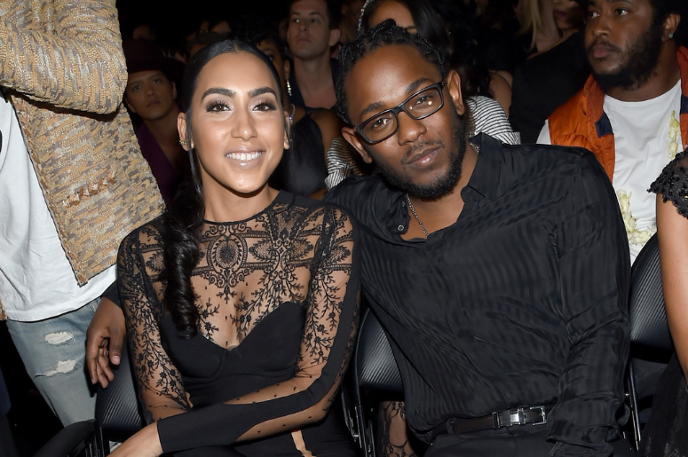 Whitney Alford (L) and rapper Kendrick Lamar attend The 58th GRAMMY Awards at Staples Center on February 15, 2016 in Los Angeles, California