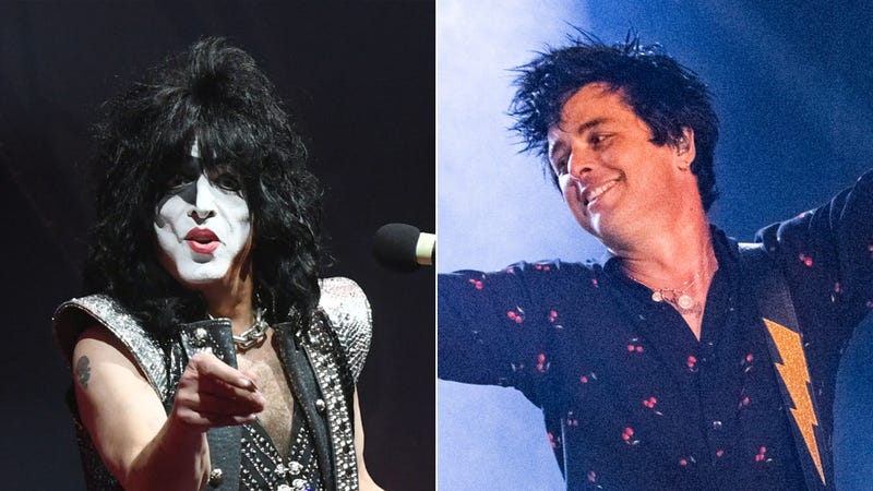 Paul Stanley of Kiss and Billie Joe Armstrong of Green Day