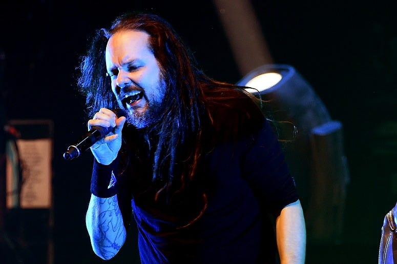 Jonathan Davis of Korn performs onstage at a private concert