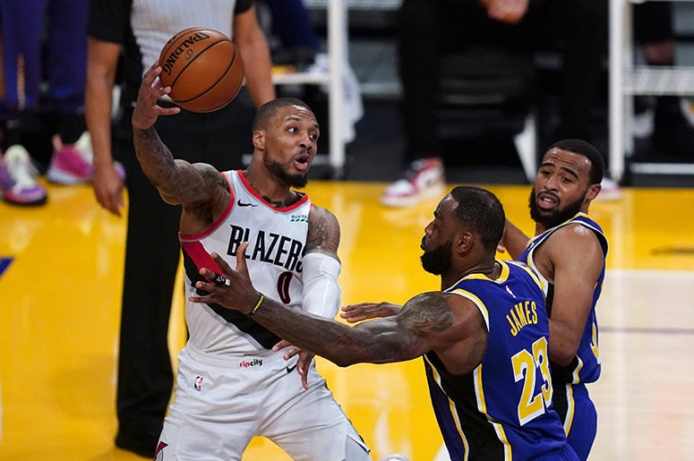 Damian Lillard, Trail Blazers, Lakers
