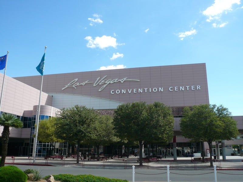 The exterior of the Las Vegas Convention Center