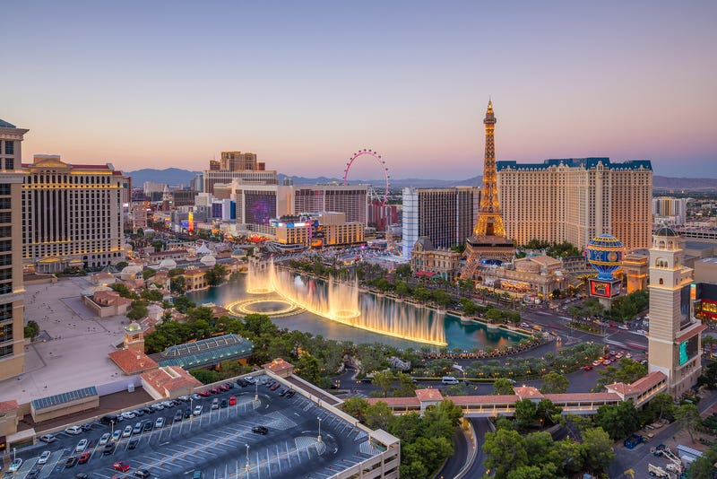 An overhead view of the Las Vegas Strip