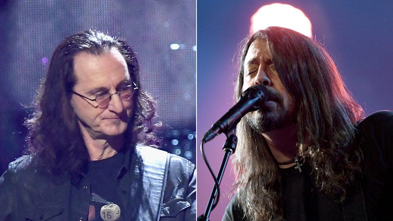 Geddy Lee and Dave Grohl