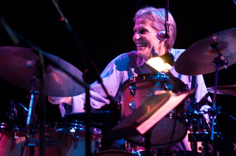 Drummer and singer Levon Helm performs during his concert at the Beacon Theatre March 8, 2008