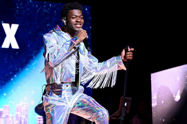 Lil Nas X performs on stage during Internet Live By BuzzFeed at Webster Hall