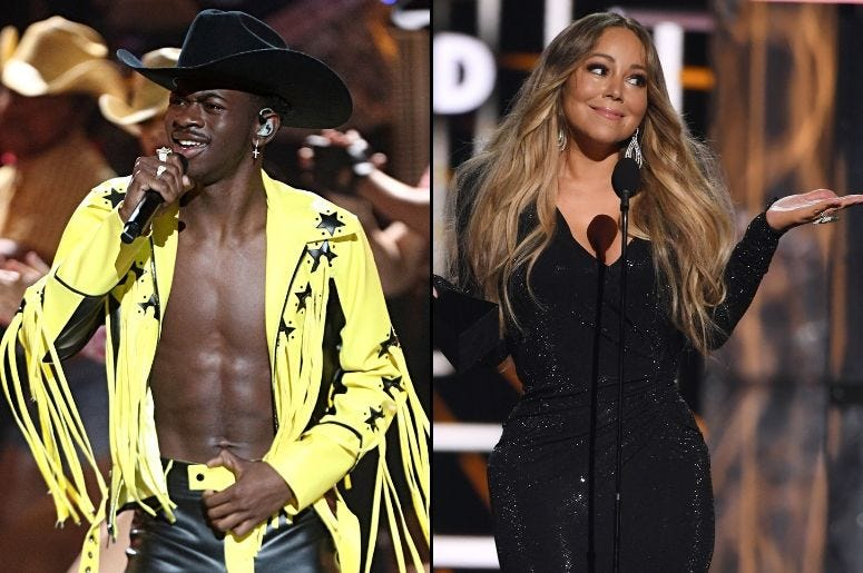 Lil Nas X and Mariah Carey