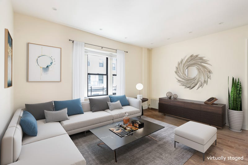 The living room at at 622 West 114th Street, the apartment where Barack Obama lived while attending Columbia University.
