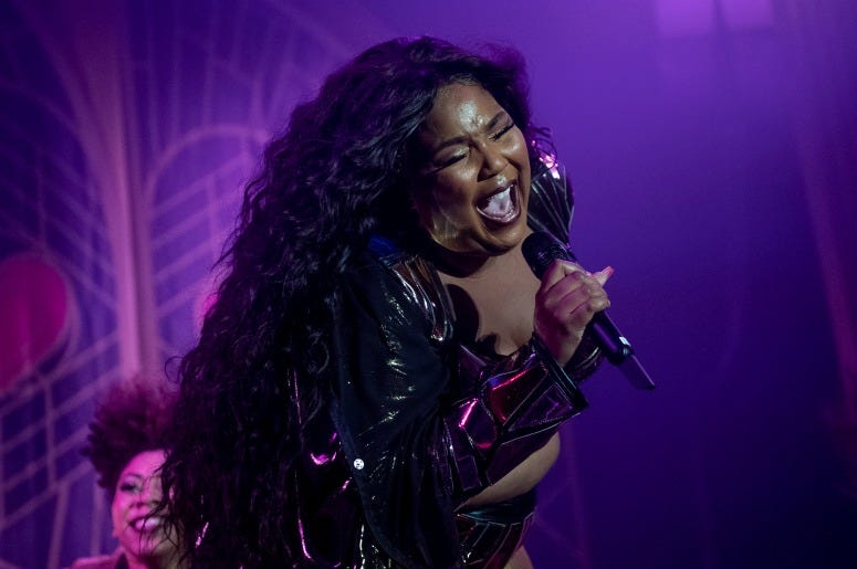 Lizzo performs onstage at the Hollywood Palladium