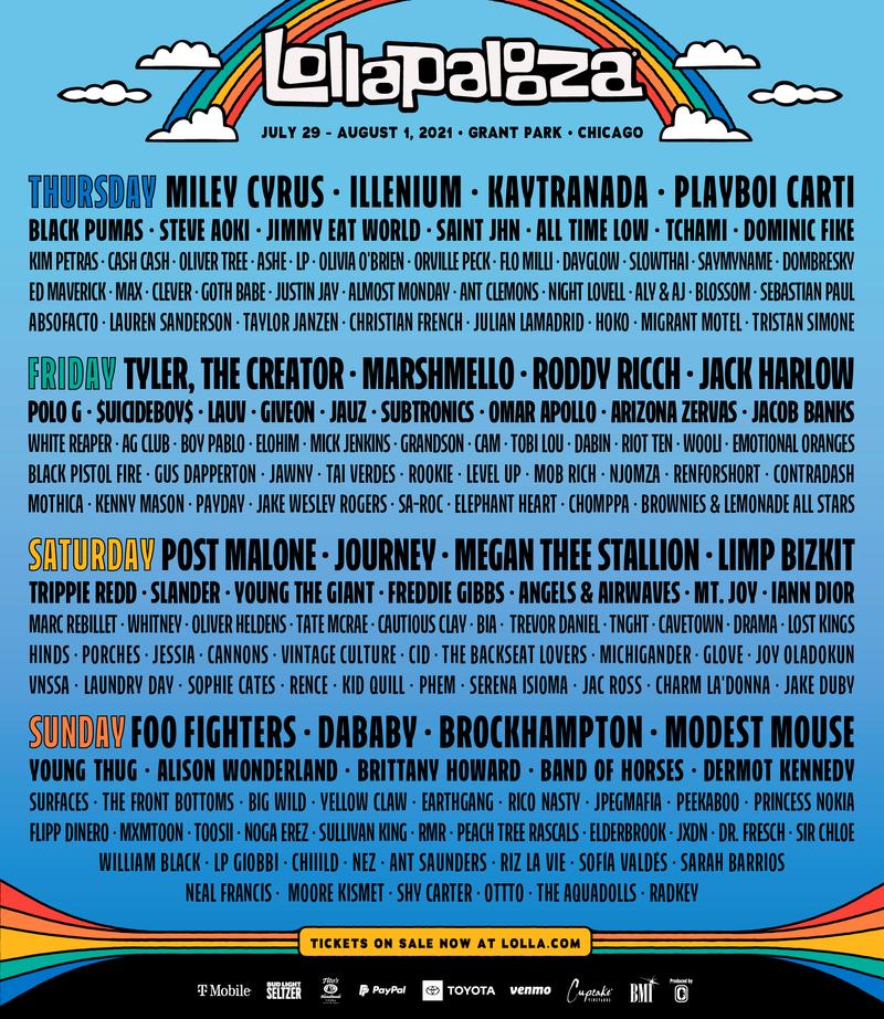 Lollapalooza 2021 Line-up