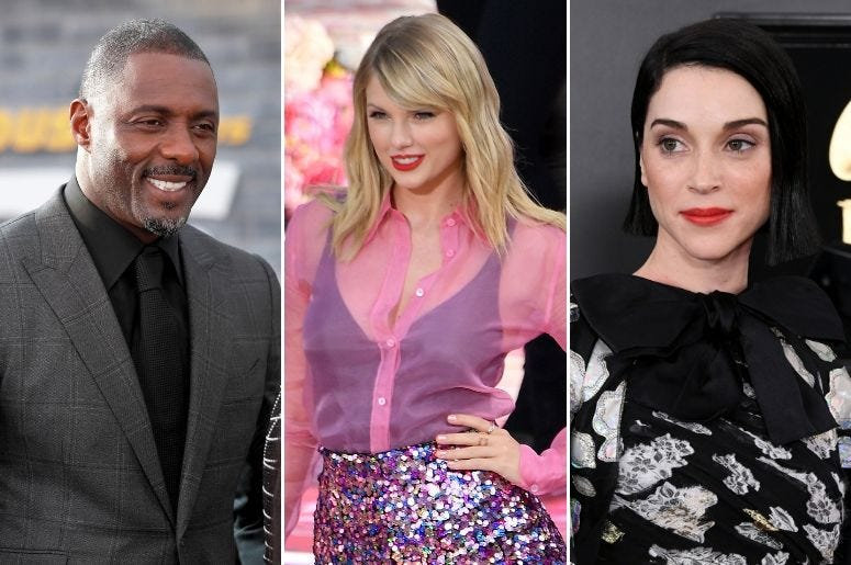 Idris Elba and St. Vincent are both a part of 'Lover.'