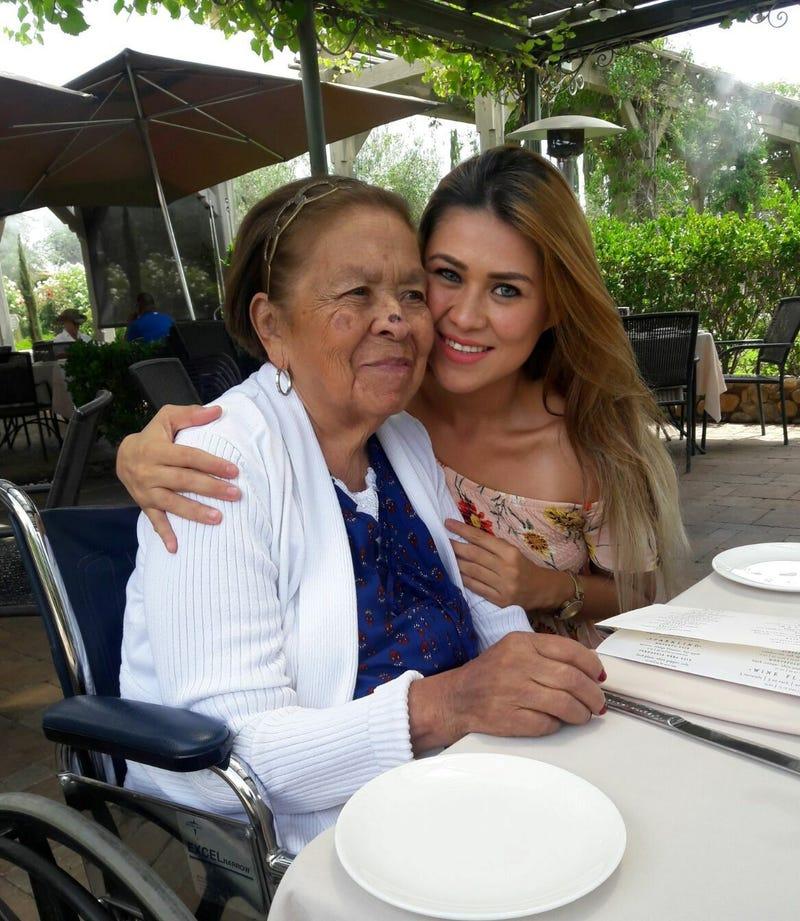 Esmeralda with her grandmother