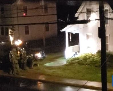 A SWAT team gathered outside 181 Oak St., Manchester, CT on Apr. 2, 2020. Police fatally shot resident Jose Soto, 27.