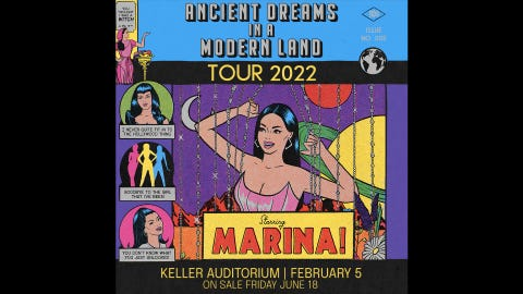 Marina - Ancient Dreams in a Modern Land Tour
