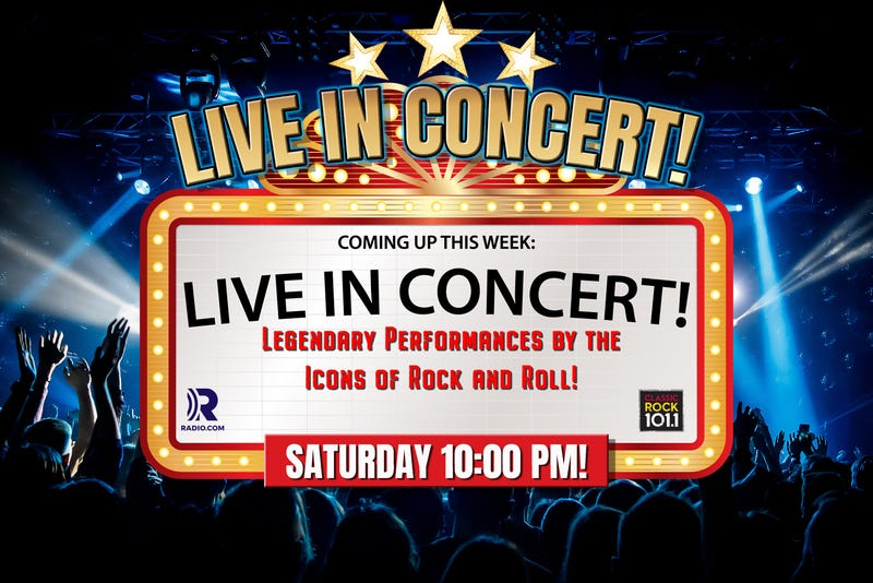 Live In Concert Marquee announcing event!