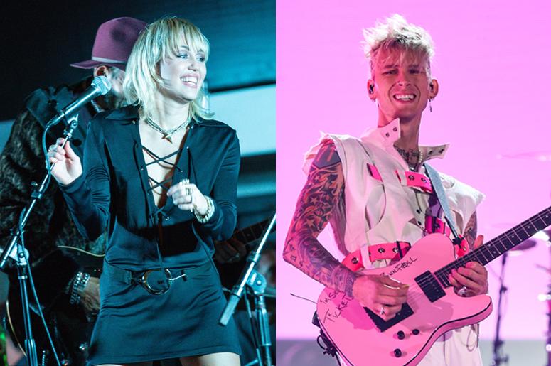 Miley Cyrus and Machine Gun Kelly