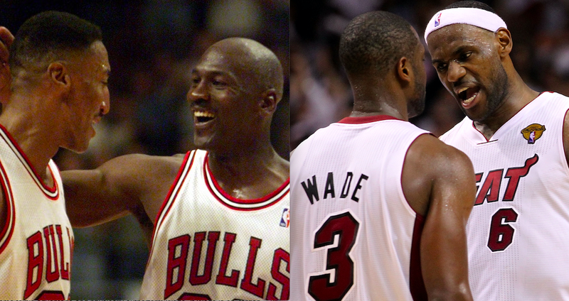 Michael Jordan, Scottie Pippen, Dwyane Wade, LeBron James
