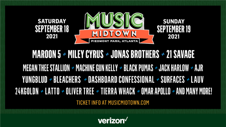 Music Midtown with Maroon 5, the Jonas Brothers, & Miley Cyrus