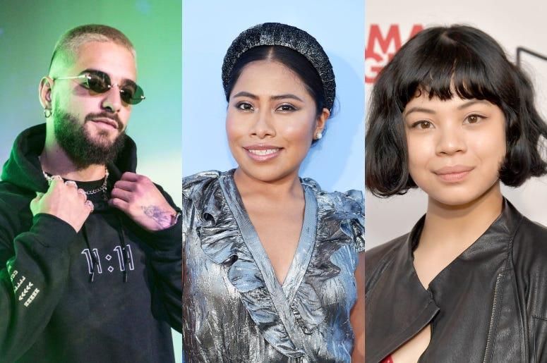 """Maluma, Yalitza Aparicio, y Eva Noblezada, tres de los jóvenes latinos en la lista """"30 Under 30"""" de Forbes."""