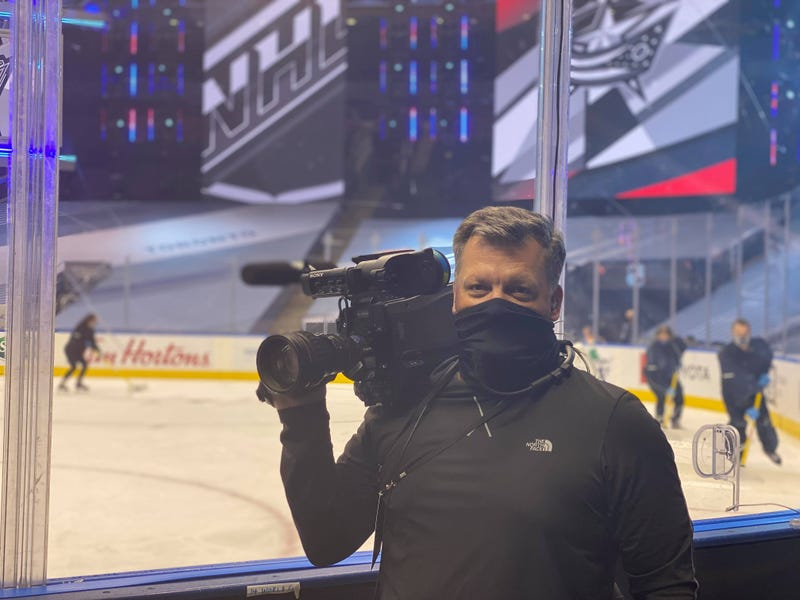 Matt Gould inside the NHL's hockey bubble in Toronto
