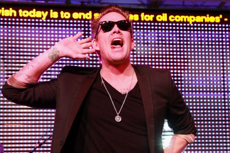 Mark McGrath of Sugar Ray performs with Camp Freddy at the 2013 Green Inaugural Ball at NEWSEUM