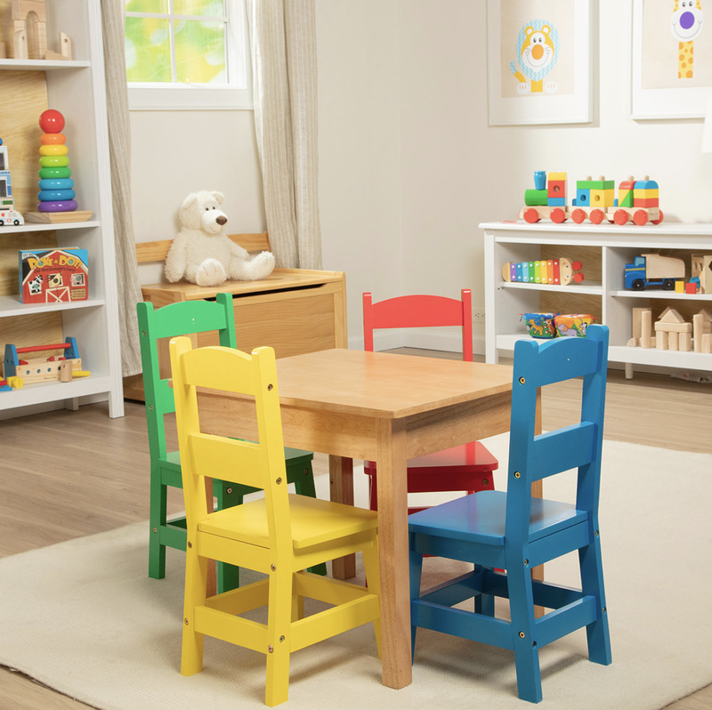 Melissa & Doug Table And 4 Chairs
