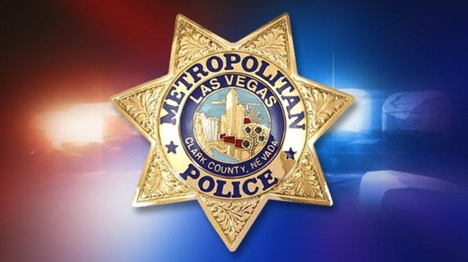 The badge of a Metro Police Officer